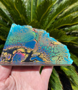 Resin Art Coaster-geode set design #A3