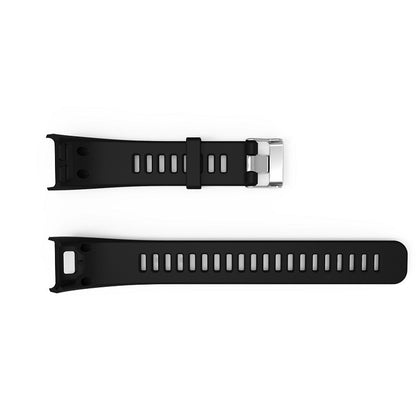 Silicone Sport Wrist Strap for Garmin Vivosmart HR 1 (Black)