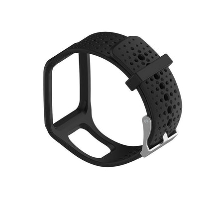 Silicone Sport Wrist Strap for TomTom 1 Series Runner / Cardio(Black)