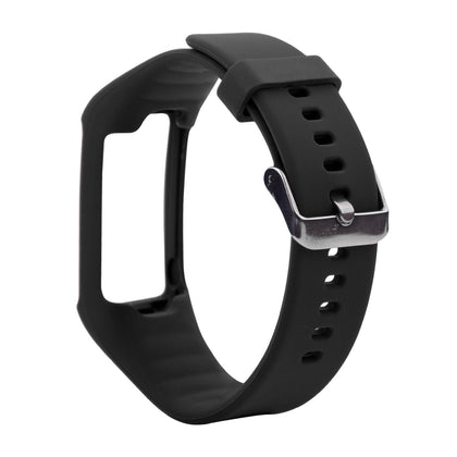 Silicone Sport Wrist Strap for POLAR A360 / A370 (Black)