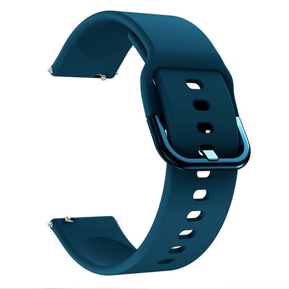 Smart Watch Electroplated Buckle Wrist Strap Watchband for Galaxy Watch Active (Dark Blue)
