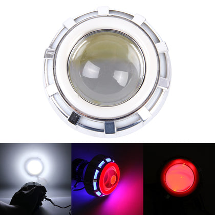 Motorcycle DC 12V-85V 30W 1200LM LED Headlight Lamp with Blue Red Angle Eye Lamp and Red Devil Eye Lamp