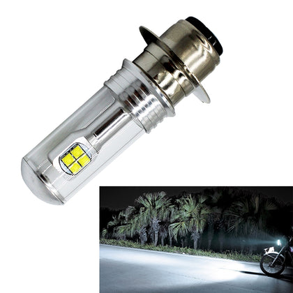 Motorcycle Headlights 750LM 6000K White H6M/P15D 40W 8-LED Bulbs, DC 12-24V