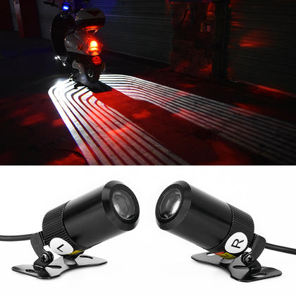 2 PCS DC 8-36V 3W Motorcycle LED Projection Lamp Light, Cable Length: 2.4m(White Light)