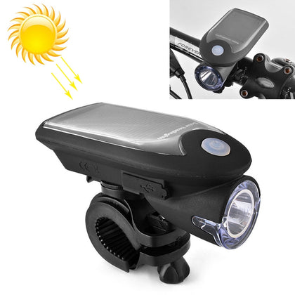 3W 240LM USB Solar Energy Motorcycle / Bicycle Front Light (Black)