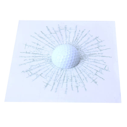 Creative 3D Deco Sport Golf Balls Car Window Crack Decal Sticker(White)