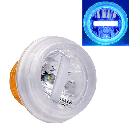 Motorcycle 30W DC 12V-85V IP66 Round Jellyfish Breathable Lamp Double Aperture LED Headlight(Green Light)