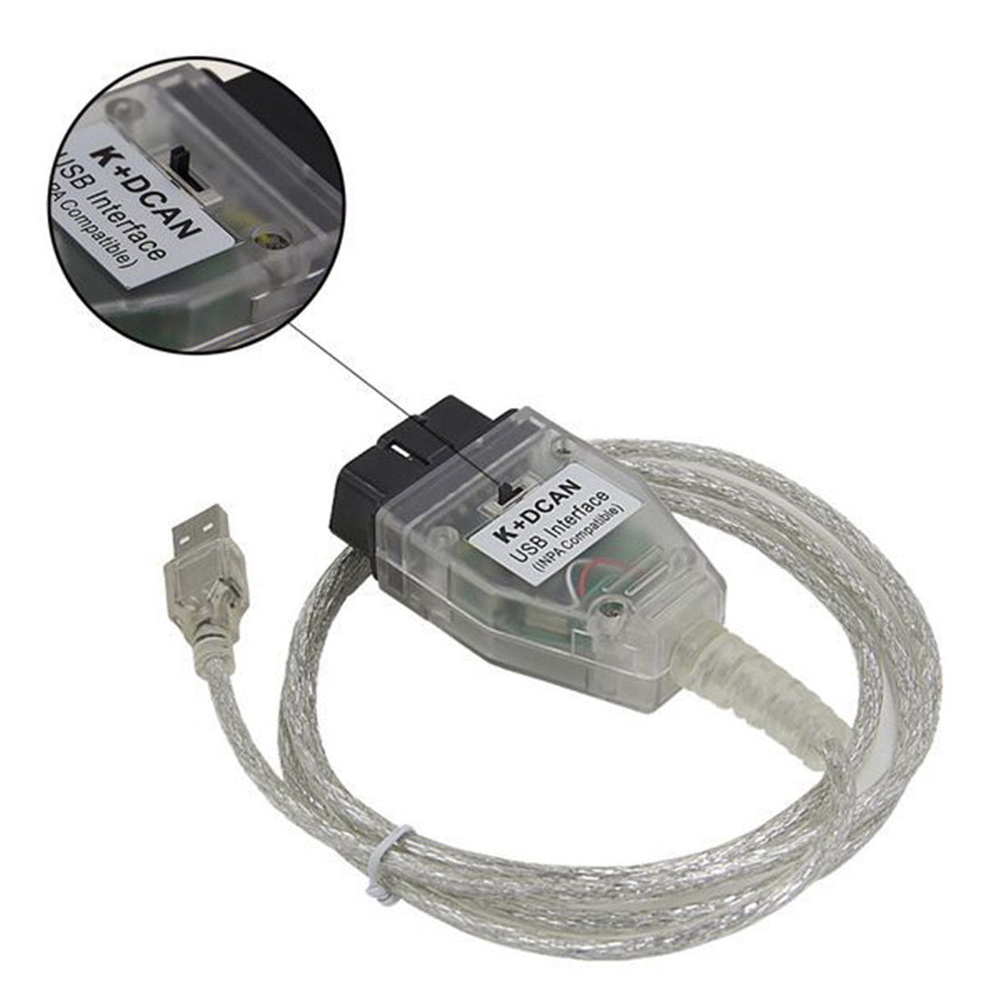 INPA K+CAN with Switch USB Interface Cable for BMW
