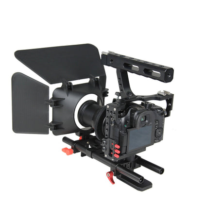 YLG1105A A7 Cage Set Include Video Camera Cage Stabilizer / Follow Focus / Matte Box for Sony A7S / A7 / A7R / A7RII /  A7SII / Pa