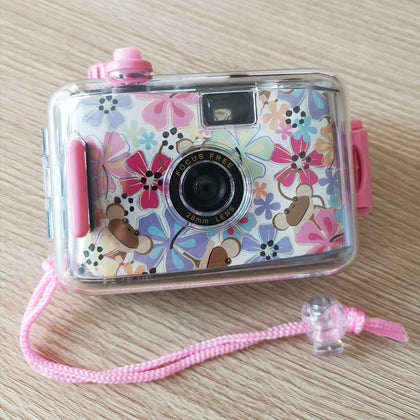 SUC4 Flowers Pattern Retro Film Camera Mini Point-and-shoot Camera for Children 5m Waterproof