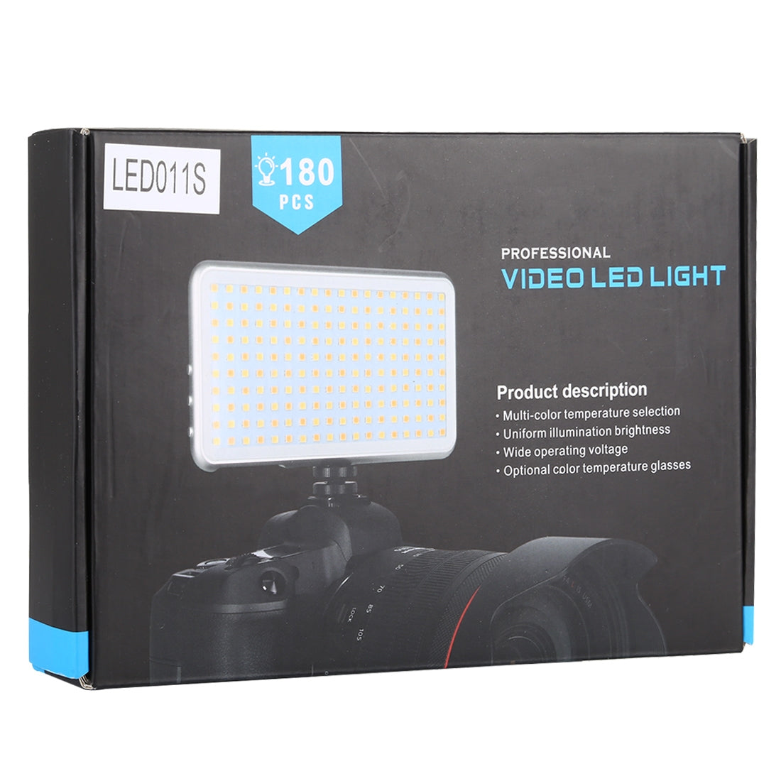LED011S Pocket 180 LEDs Professional Vlogging Photography Video & Photo Studio Light with OLED Display & Cold Shoe Adapter Mount f