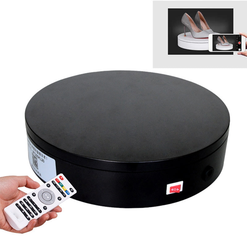 32cm Control Adjusting Speed 360 Degree Electric Rotating Turntable Display Stand Video Shooting Props Turntable for Photography,