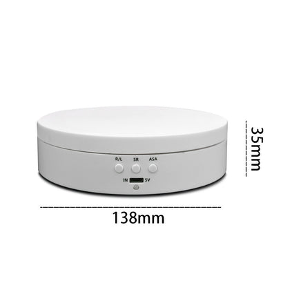 13.8cm USB Charging Smart 360 Degree Rotating Turntable Display Stand Video Shooting Props Turntable for Photography, Load 3kg (Wh