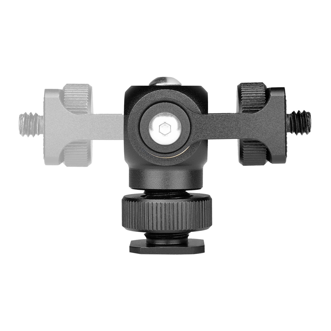 180 Degree Swing Mini Tripod Ball Head Bracket Cold Shoe Mount 1/4 inch Screw Adapter(Black)