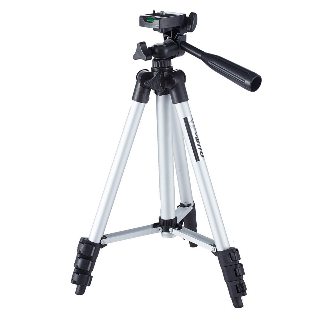 Live Broadcast Tripod 4-Section Folding Legs Aluminum Alloy Tripod Mount with U-Shape Three-Dimensional Tripod Head for DSLR & Dig