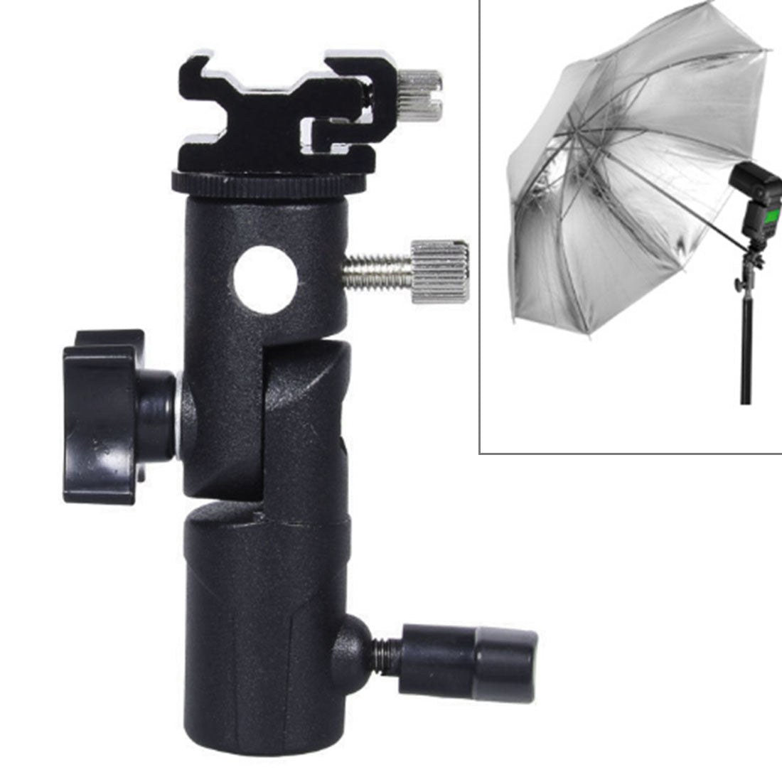 E Type Multifunctional Flash Light Stand Umbrella Bracket, Max Load: 3kg