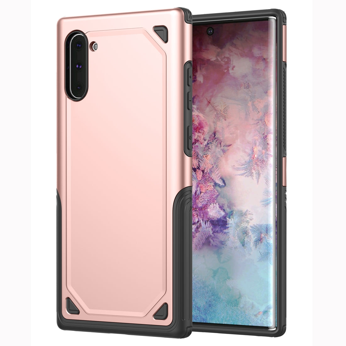 Shockproof Rugged Armor Protective Case for Galaxy Note 10(Rose Gold)