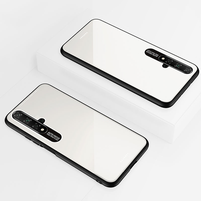 Lycra Series Eye Protection TPU Acrylic Protection Case for Huawei Honor 20(White)