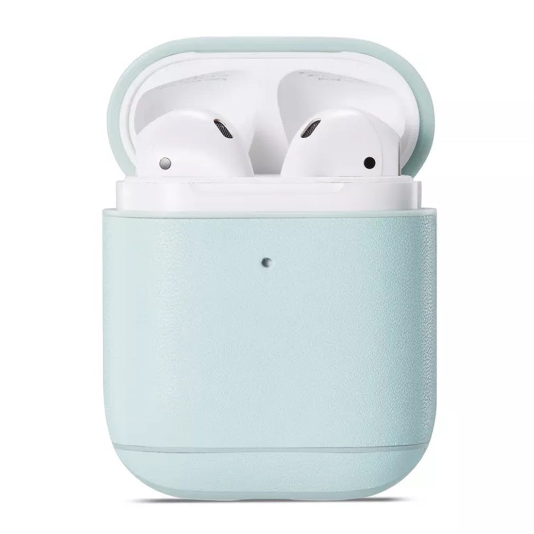 Genuine Leather Earphone Protective Case for Apple AirPods 1 / 2(Mint Green)