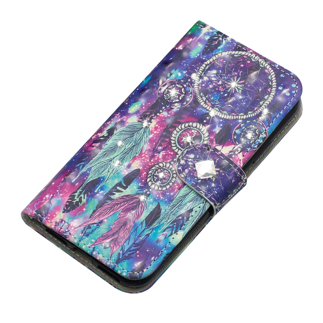 \Sony Xperia X1 3D Diamond Encrusted Painting Pattern Coloured Drawing Horizontal Flip PU Leather Case