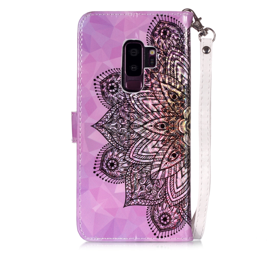Magic 3D Bright Coloured Drawing Pattern Horizontal Flip PU Leather Case with Holder & Card Slots & Wallet & Photo Frame for Galaxy S9+(Half Mandala)