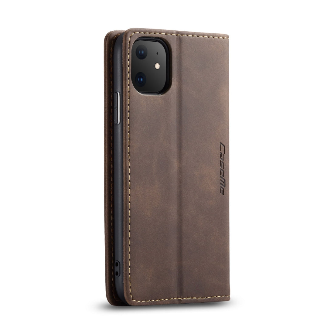 CaseMe-013 Multifunctional Horizontal Flip Leather Case with Card Slot & Holder & Wallet for iPhone 11(coffee)