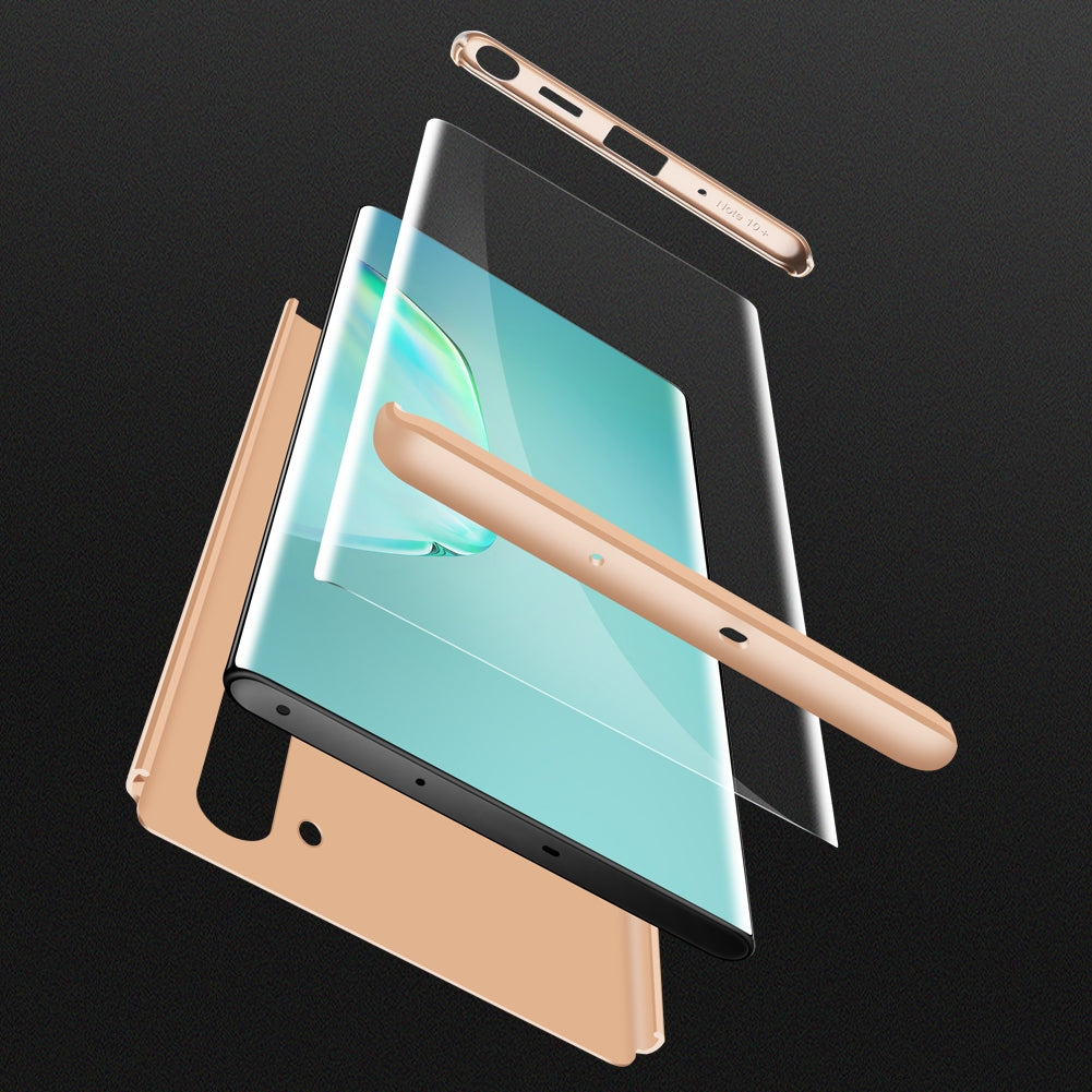 GKK Three Stage Splicing Full Coverage PC Case For Galaxy Note10(Gold)