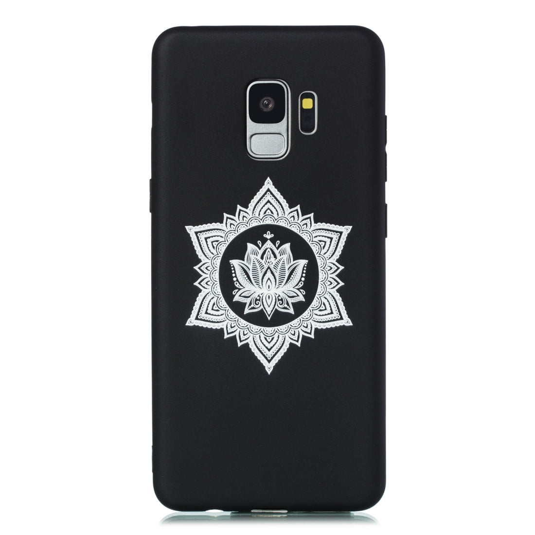 For Galaxy S9+ Shockproof Soft TPU Protective Case(Hexagram Flower Pattern)