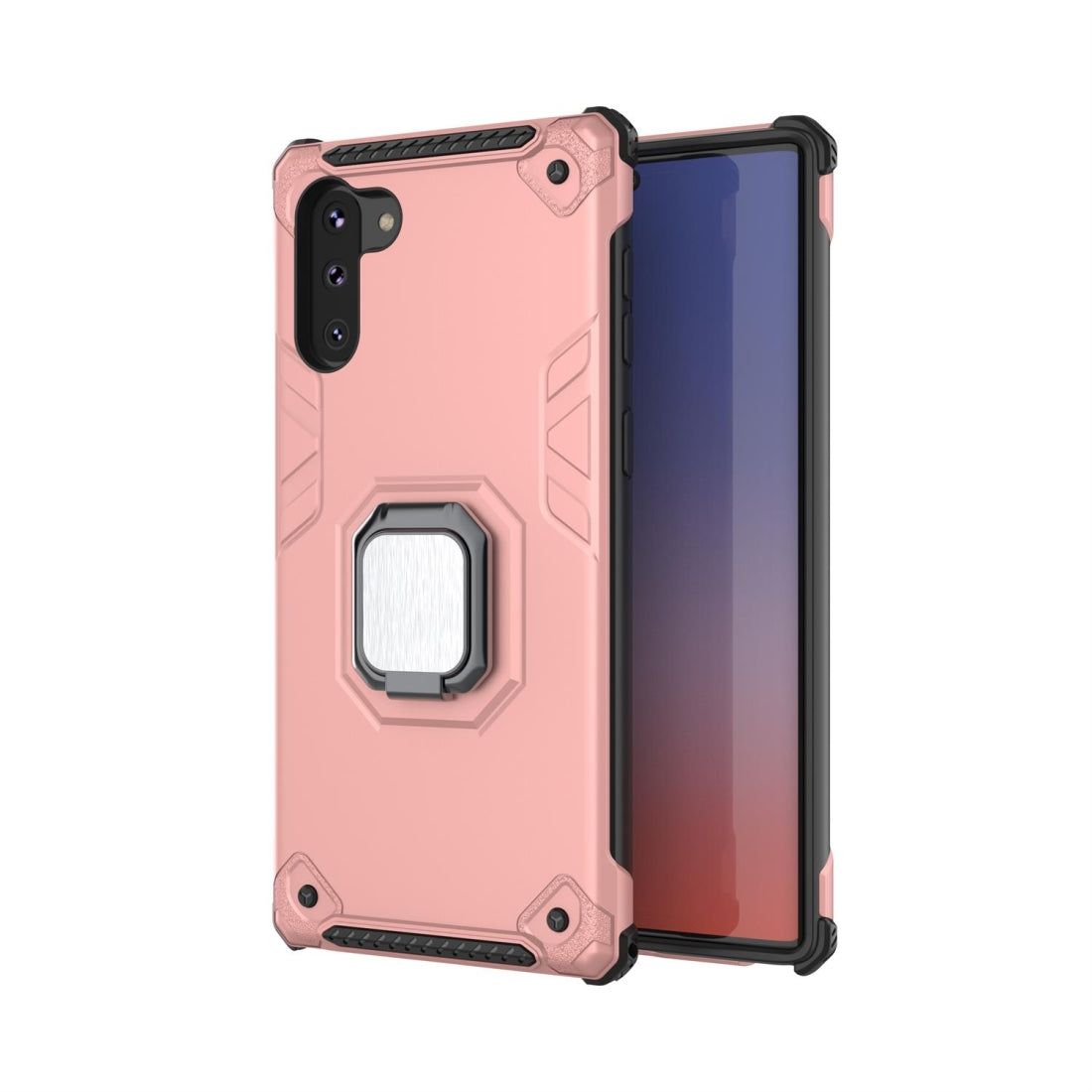 For Galaxy Note 10 Ultra-Thin 2-in-1 TPU+PC Transcendental Armor Vehicle-Mounted Support Case(Rose Gold)