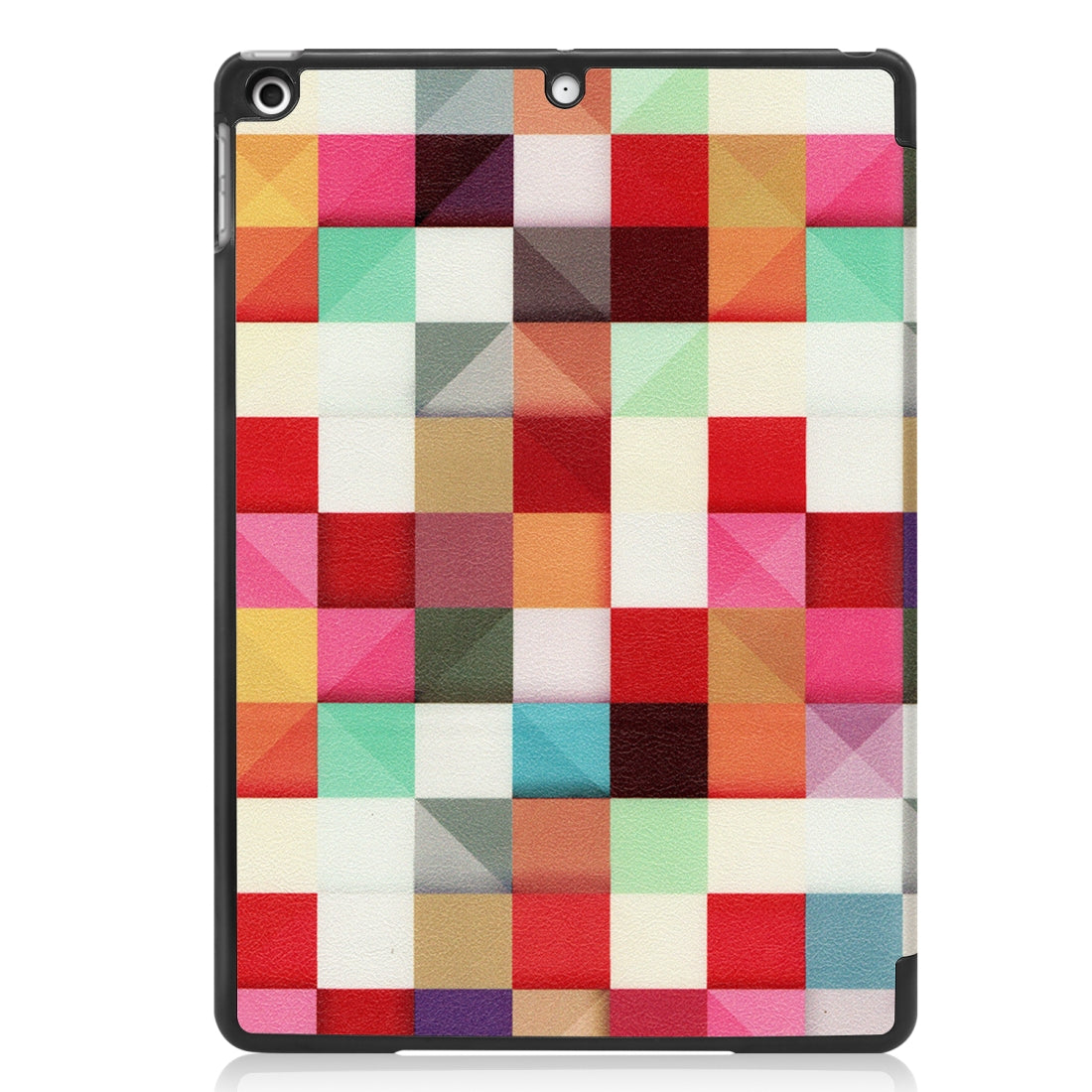 For iPad 10.2 Colored Drawing Horizontal Flip Leather Case with Three-folding Holder & Sleep / Wake-up Function(Magic Cube)