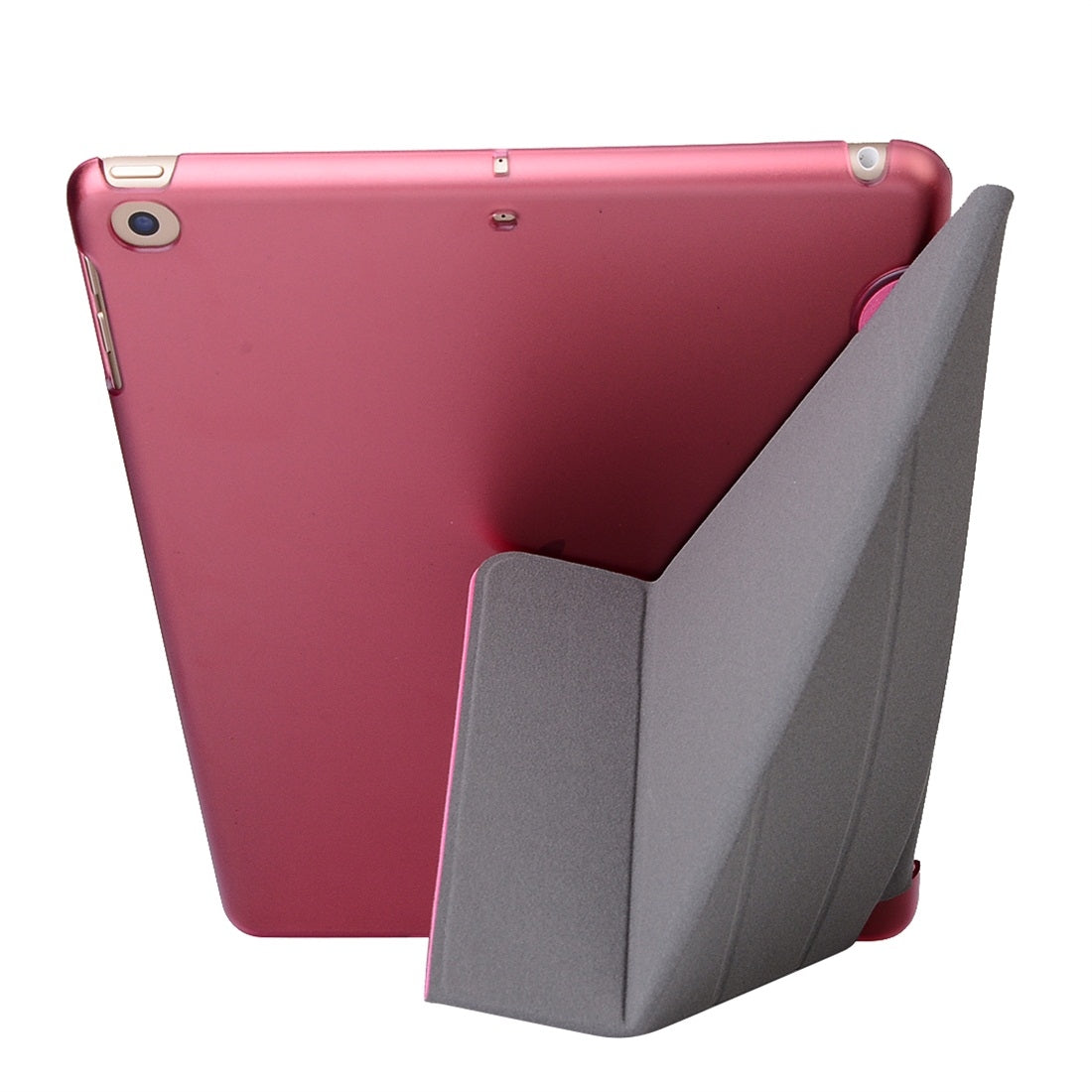 For iPad 10.2 inch Silk Texture Horizontal Deformation Flip Leather Case with Holder(Pink)