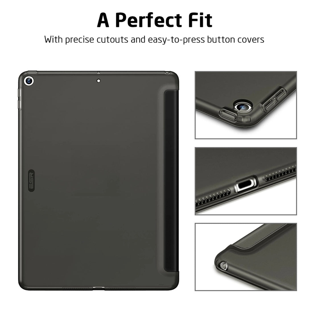 ESR For iPad 10.2 inch Rebound Serie Slim TPU Horizontal Flip Leather Case with Holder & Sleep / Wake-up Function(Blue)