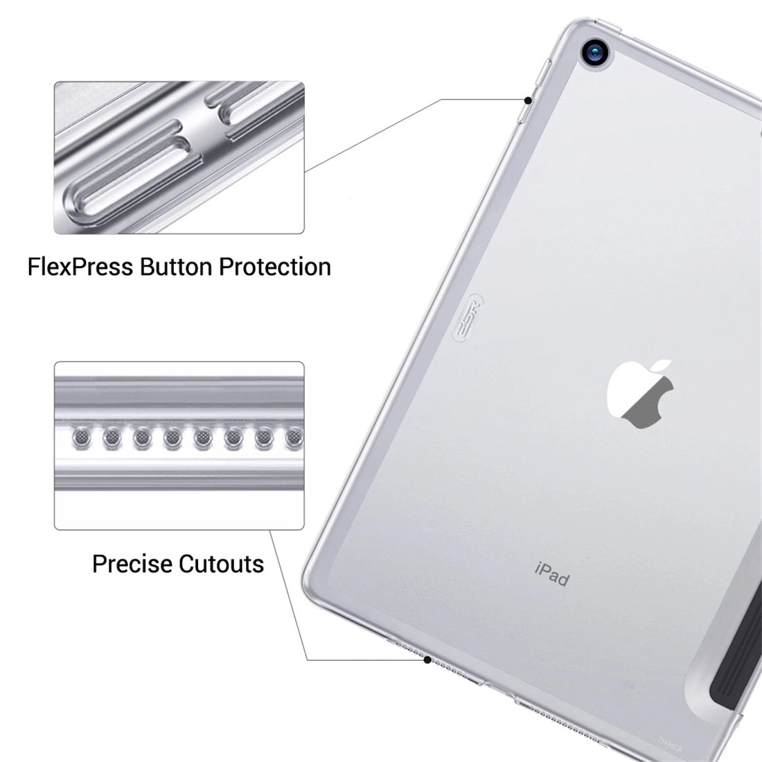 ESR For iPad 10.2 inch Yippee Color Plus Seires Transparent Soft TPU Back Protective Case