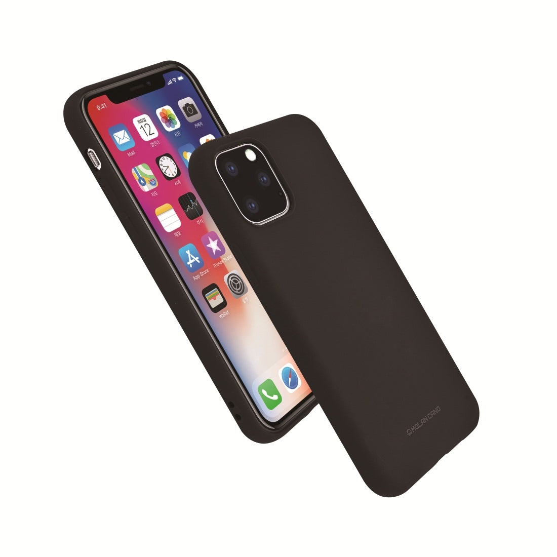 For iPhone 11 MOLANCANO Shockproof Solid Color Silica Gel Protective Case(Black)