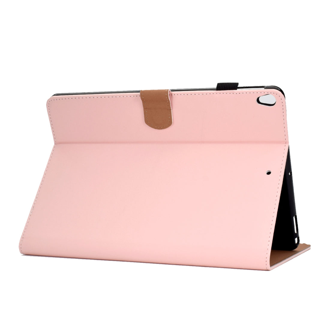 For iPad 10.2 inch Solid Color Horizontal Flip Leather Case with Holder & Card Slots & Pen Slot & Sleep / Wake-up Function(Pink)