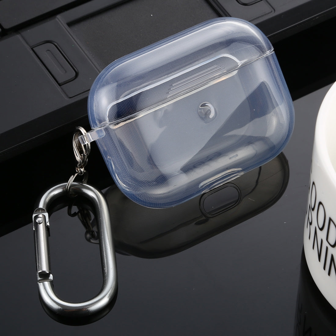 For Apple AirPods Pro Transparent TPU Wireless Earphone Protective Case(Transparent)