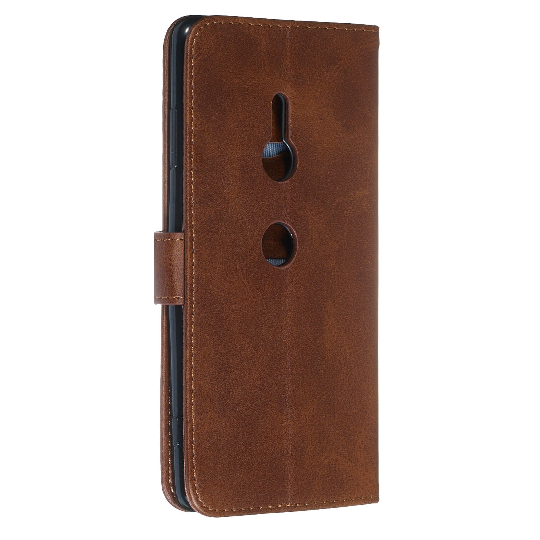For Sony Xperia XZ3 Zipper Horizontal Flip Leather Case with Wallet & Holder & Card Slots(Brown)