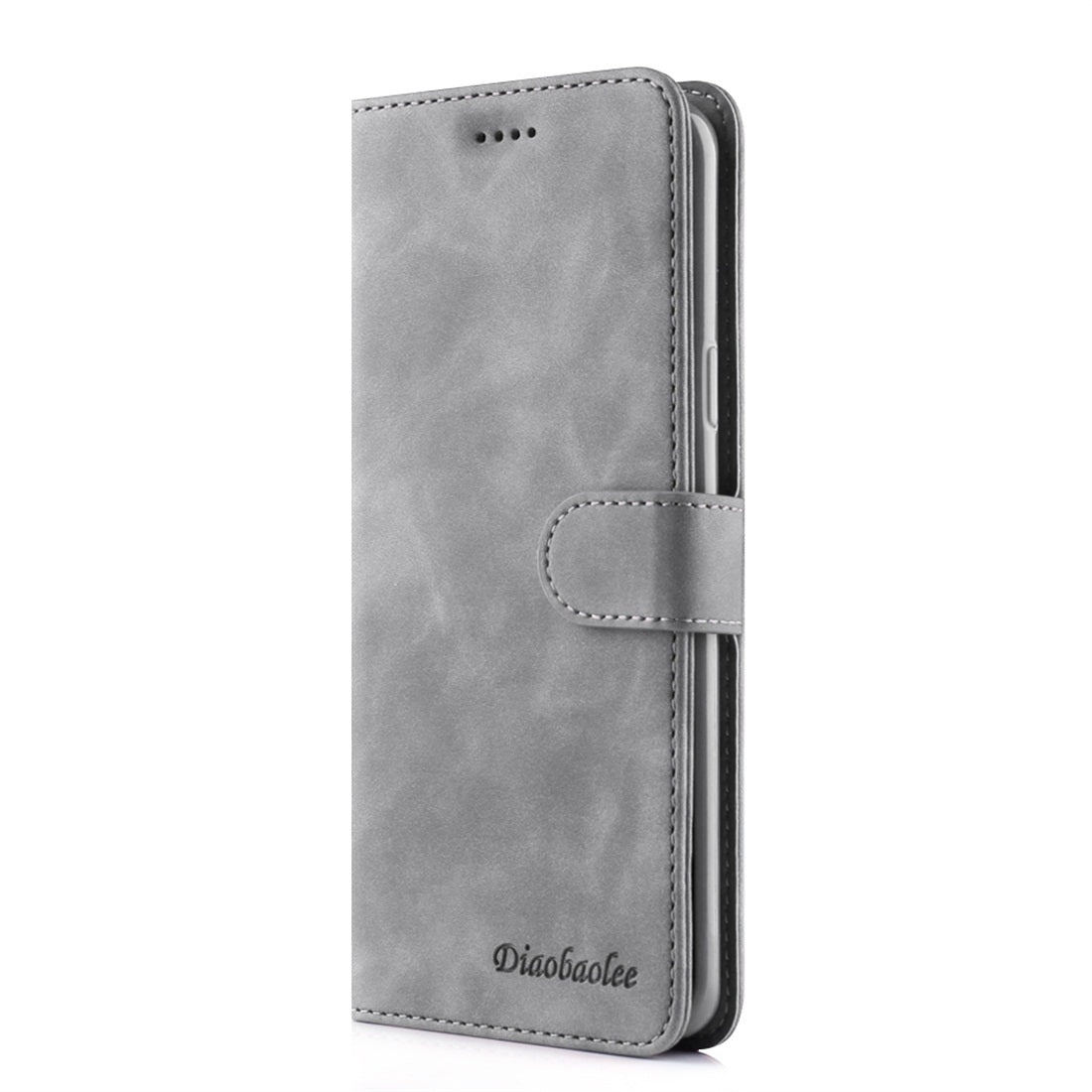 For Galaxy S9+ Diaobaolee Pure Fresh Texture Horizontal Flip Leather Case, with Holder & Card Slot & Wallet & Photo Frame(Grey)
