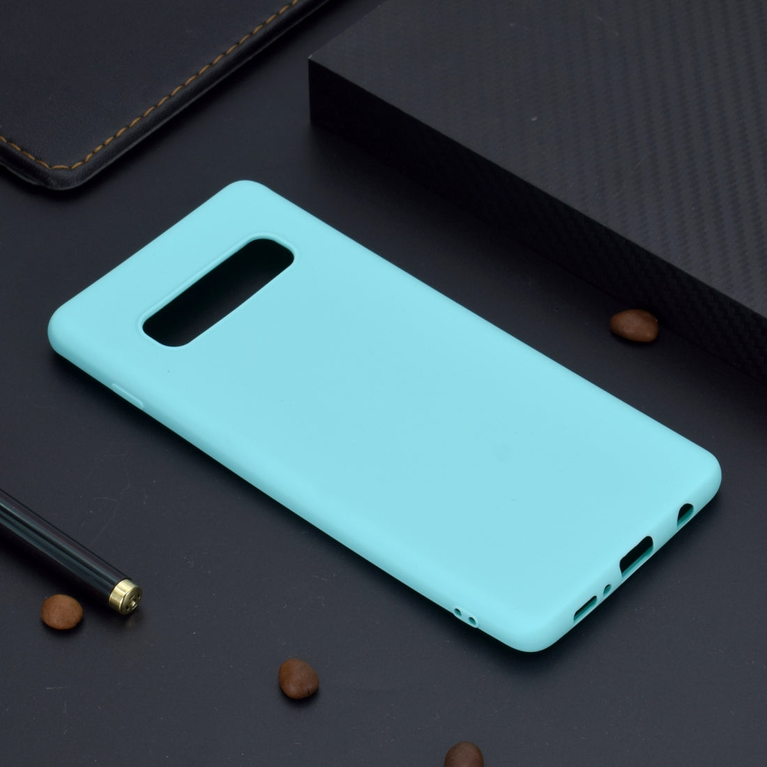 For Galaxy S10+ Candy Color TPU Case(Green)