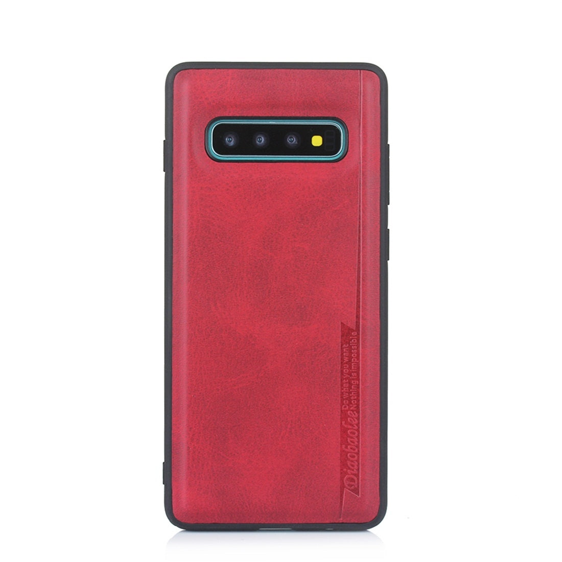 For Galaxy S10+ Diaobaolee Shockproof PU + TPU Protective Case(Red)