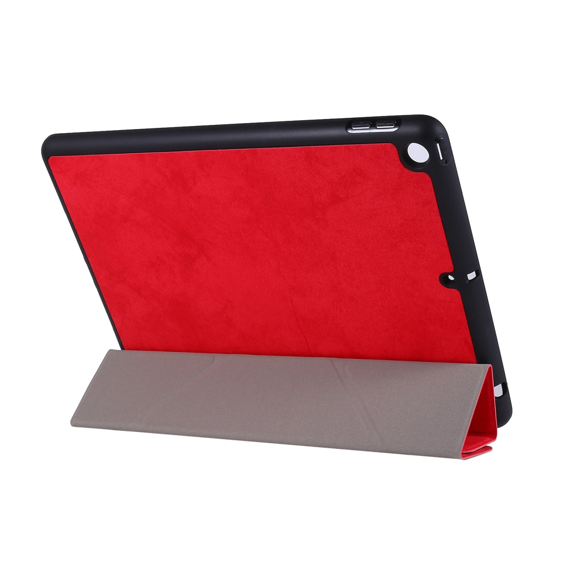 For iPad 10.2 inch Silk Texture Horizontal Deformation Flip Leather Case with Holder & Pen Slot(Red)