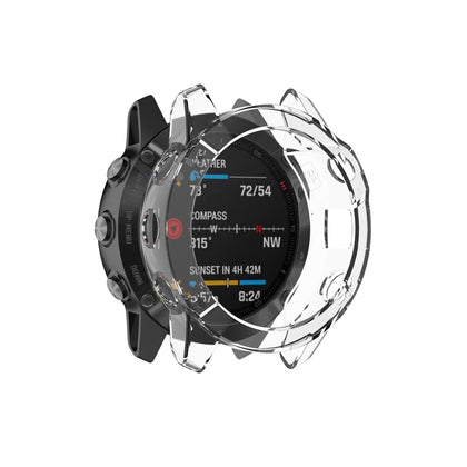 For Garmin Fenix 6 / 6 Pro Smart Watch Half Coverage TPU Protective Case(Transparent)