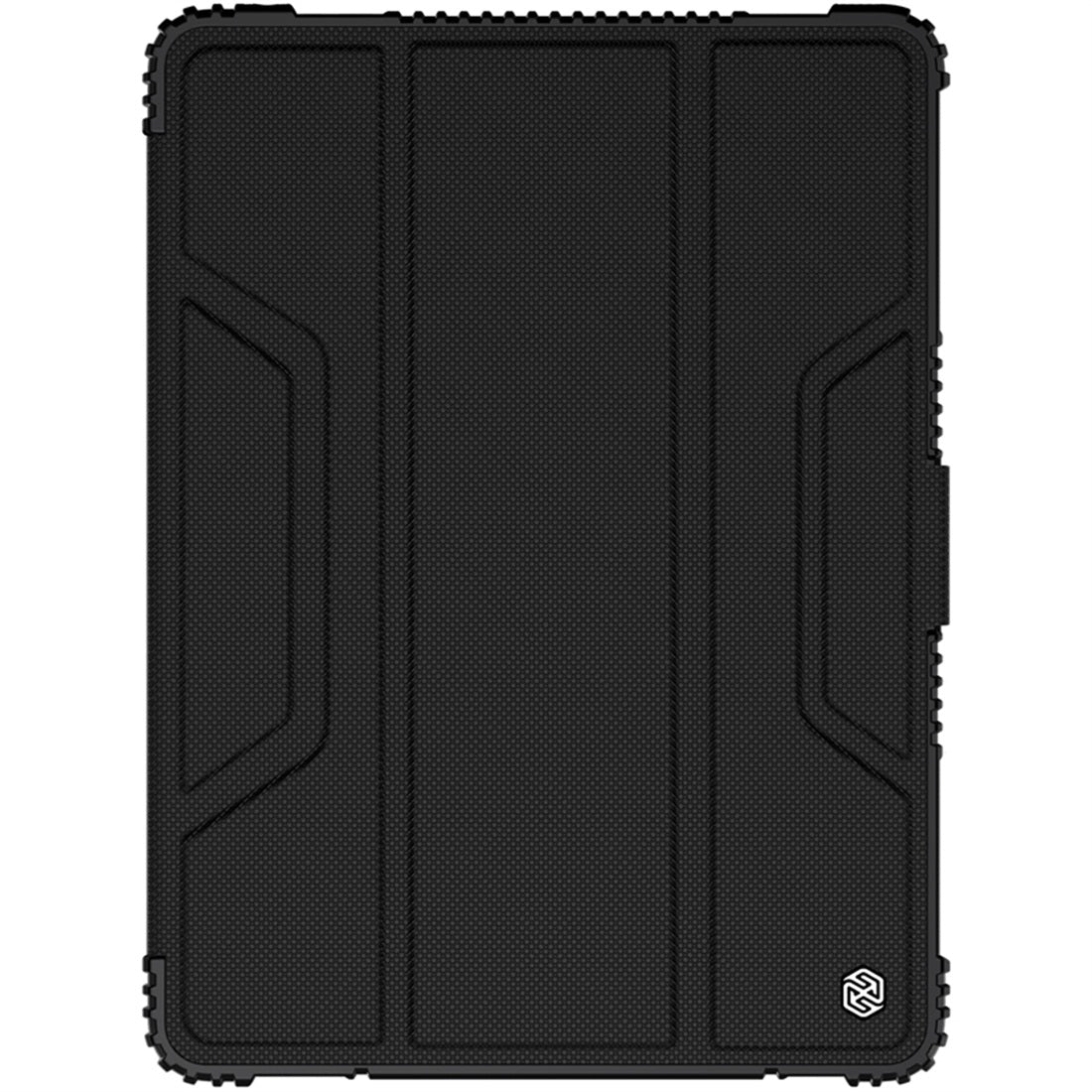 For iPad 10.2 NILLKIN Full Coverage Horizontal Flip Leather Case with Holder & Pen Slot & Sleep / Wake-up Function(Black)