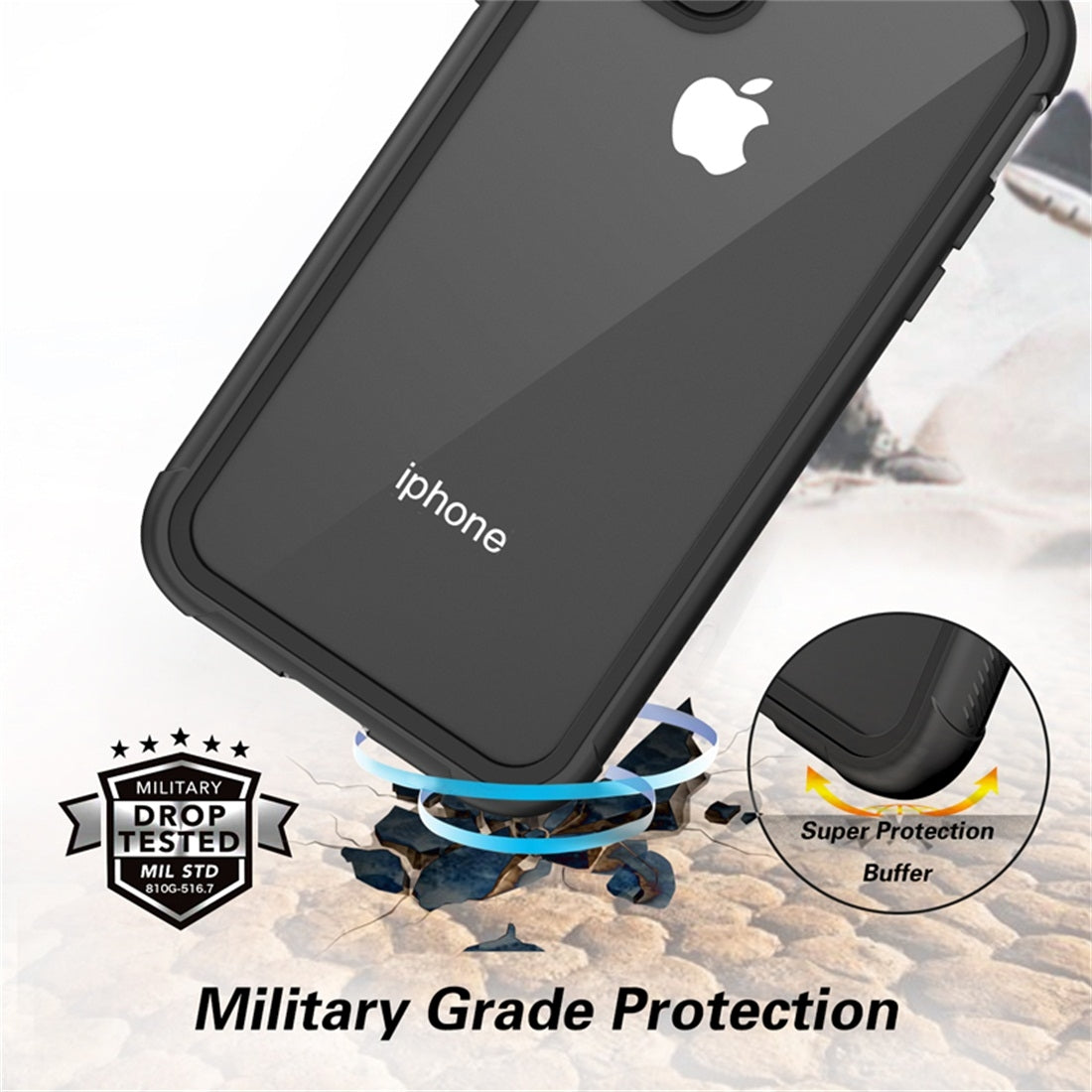 For iPhone 11 RedPepper Shockproof Scratchproof Dust-proof PC + TPU Protective Case(Black)