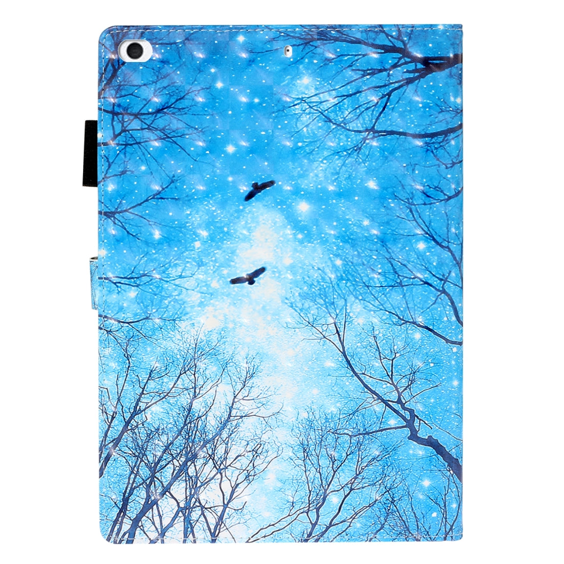 For iPad Mini 5 / 4 / 3 / 2 / 1 3D Embossing Pattern Horizontal Flip Leather Case with Holder & Card Slots & Wallet(Blue Forest)