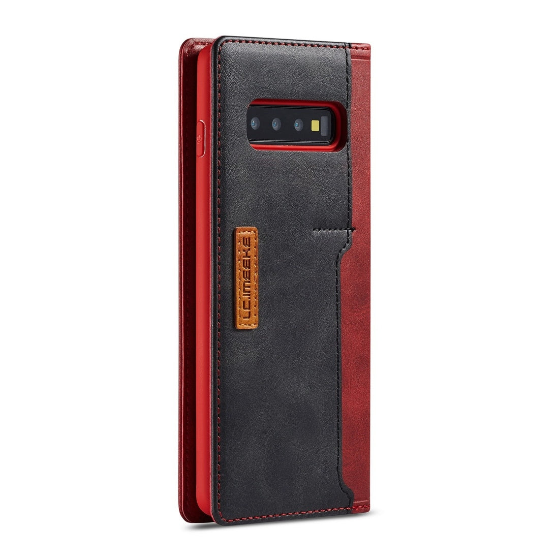 For Galaxy S10+ LC.IMEEKE LC-001 Series PU + TPU Color Matching Frosted Horizontal Flip Leather Case with Holder & Card Slot(Red)
