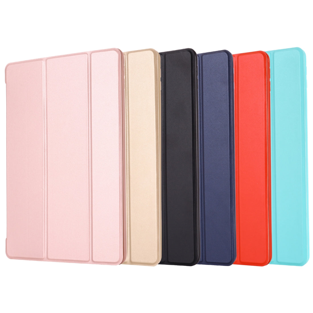 For iPad 10.2 inch GEBEI Shockproof Horizontal Flip Leather Case with Three-folding Holder(Red)