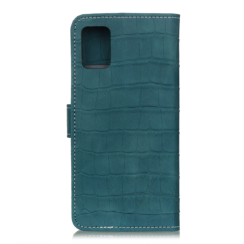 For Galaxy A51 Crocodile Texture Horizontal Flip Leather Case with Holder & Card Slots & Wallet(Green)