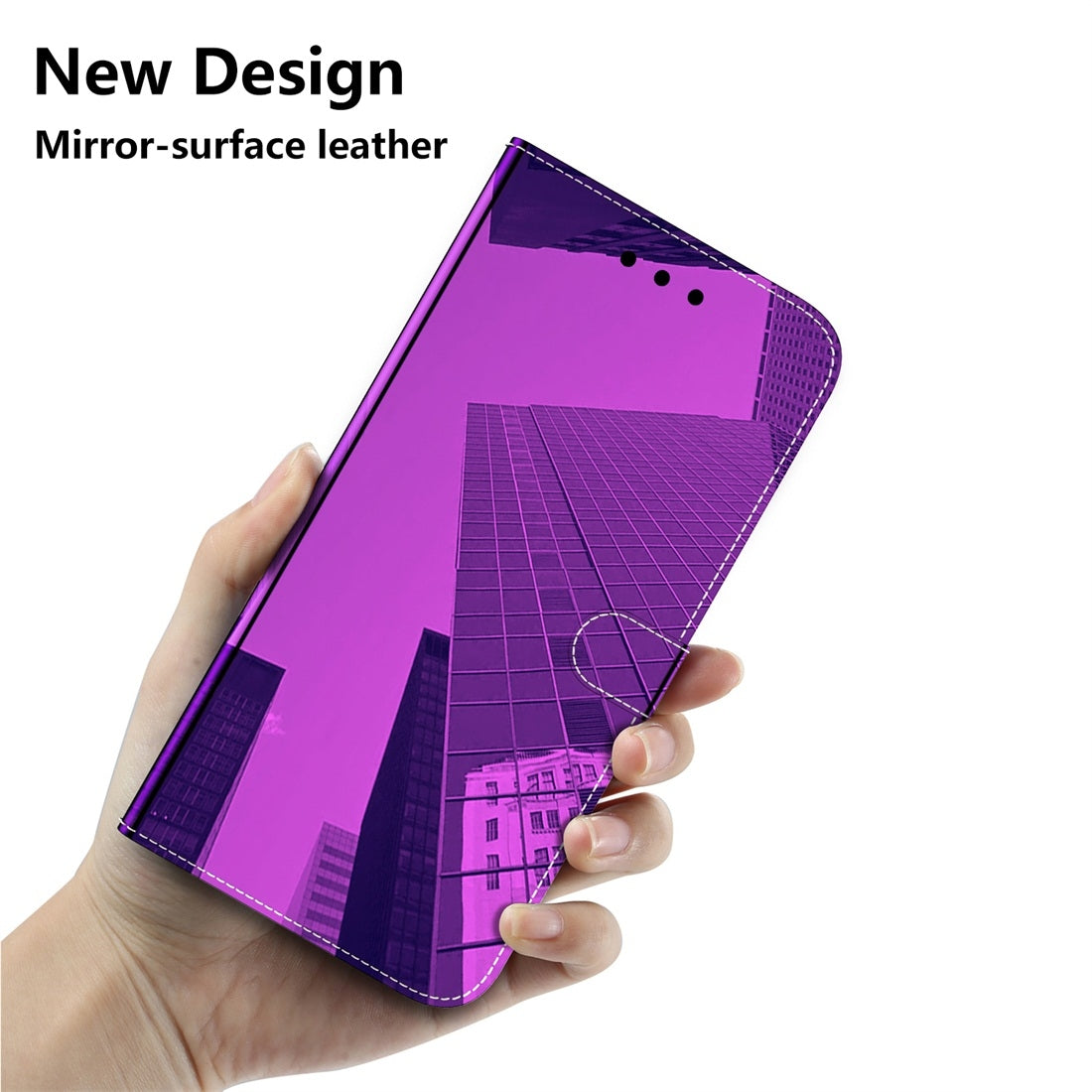 For Galaxy S9+ Imitated Mirror Surface Horizontal Flip Leather Case with Holder & Card Slots & Wallet & Lanyard(Purple)
