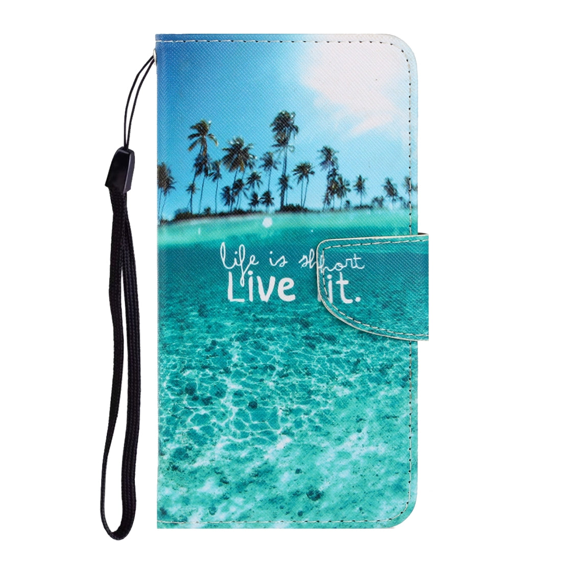 For iPhone 8 / 7 3D Colored Drawing Horizontal Flip PU Leather Case with Holder & Card Slots & Wallet(Coconut Tree)